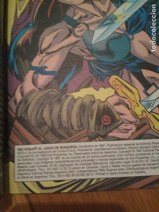 Cómics: Red Sonja Juego de busqueda envio económico marvel Conan no panini marvel - Foto 5 - 206289908