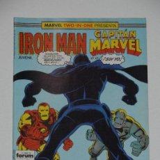 Cómics: //CCS// COMIC MARVEL TWO IN ONE IRON MAN - CAPITÁN MARVEL # 43 DE FORUM. Lote 206413830