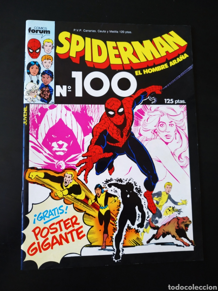 DE KIOSCO SPIDERMAN 100 CON POSTER FORUM INCLUIDO (Tebeos y Comics - Forum - Spiderman)