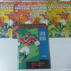 Cómics: CAPITAN BRITANIA LOTE COMICS MARVEL. Lote 207029180