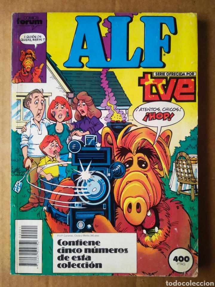 RETAPADO ALF: NÚMEROS 1-2-3-4-5 (FORUM, 1989). POR MICHAEL GALLAGHER Y DAVE MANAK. (Tebeos y Comics - Forum - Retapados)