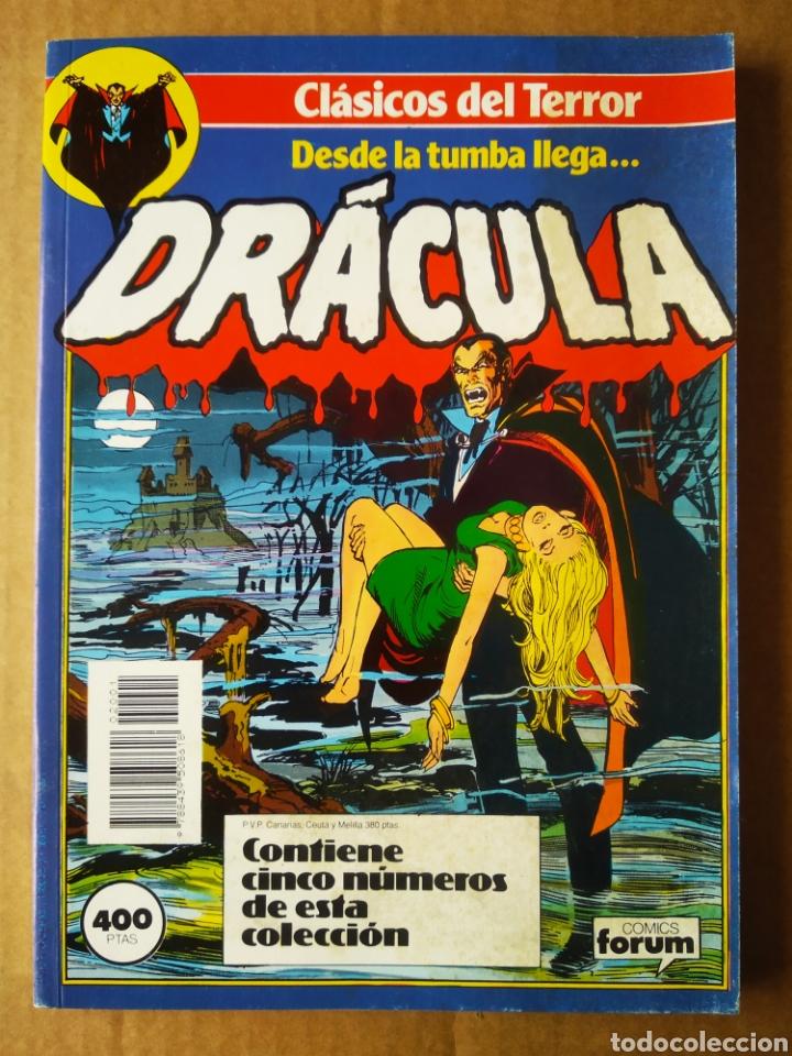 RETAPADO CLÁSICOS DEL TERROR: DESDE LA TUMBA LLEGA... DRÁCULA (FORUM, 1988). NÚMEROS 1-2-3-4-5. (Tebeos y Comics - Forum - Retapados)