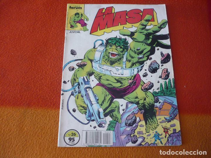 LA MASA VOL. 1 Nº 26 EL INCREIBLE HULK ( MANTLO BUSCEMA ) MARVEL FORUM (Tebeos y Comics - Forum - Hulk)