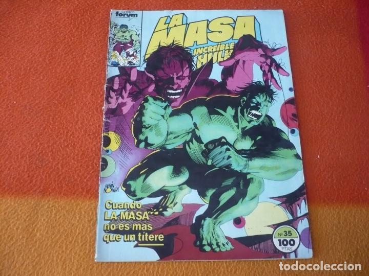 LA MASA VOL. 1 Nº 35 EL INCREIBLE HULK ( MANTLO BUSCEMA ) MARVEL FORUM (Tebeos y Comics - Forum - Hulk)