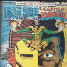 Cómics: IRON MAN / CAPITAN MARVEL- RETAPADO - NºS 41 AL 43 - NUEVO A ESTRENAR. Lote 262211625
