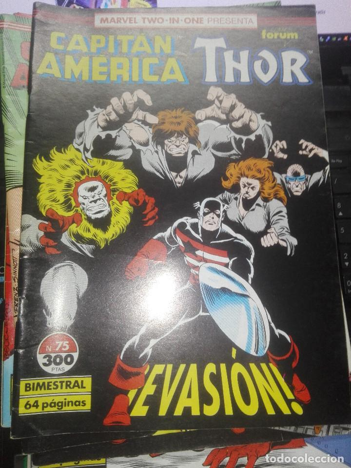 MARVEL TWO IN ONE - CAPITAN AMERICA-THOR- Nº 75 - EVASION (Tebeos y Comics - Forum - Capitán América)