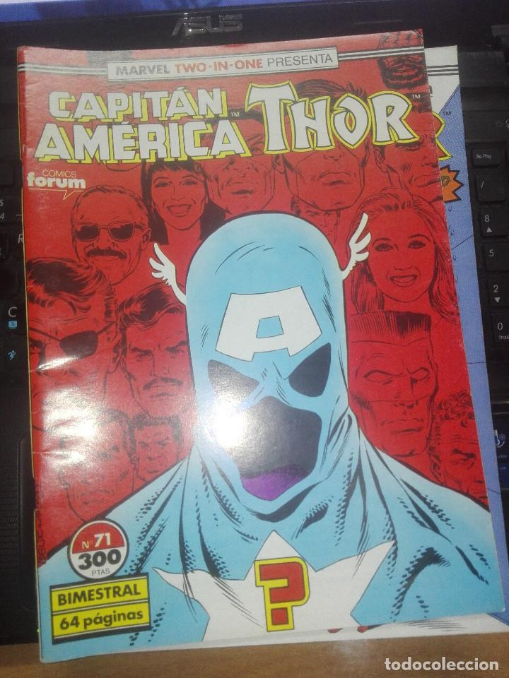 CAPITAN AMERICA THOR - MARVEL TWO-IN-ONE - Nº 71 - INCLUYE POSTER (Tebeos y Comics - Forum - Capitán América)