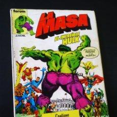 Fumetti: NORMAL ESTADO LA MASA 16 AL 20 REGAÑADO TOMO FORUM. Lote 210270041