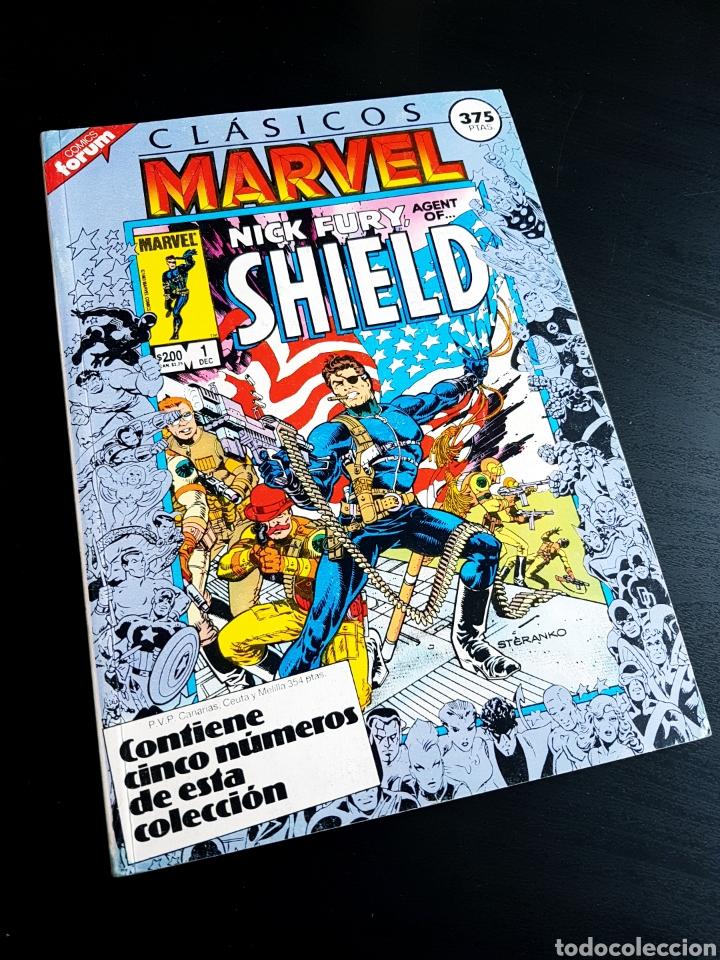 MUY BUEN ESTADO CLASICOS MARVEL SHIELD RETAPADO 1 AL 5 FORUM (Tebeos y Comics - Forum - Retapados)