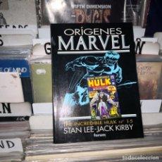 Cómics: - ORIGENES MARVEL - STAN LEE - JACK KIRBY - THE INCREIBLE HULK N 1 -5. Lote 210332191