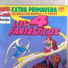 Cómics: EXTRA PRIMAVERA LOS 4 FANTASTICOS - EN BUSCA DE KORVAC 1ª PARTE. Lote 210637242