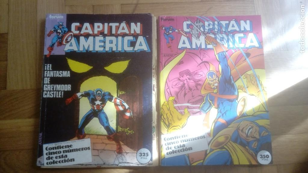 CAPITAN AMERICA. FORUM. RETAPADOS 16 AL 20 Y 41 AL 45 (Tebeos y Comics - Forum - Capitán América)