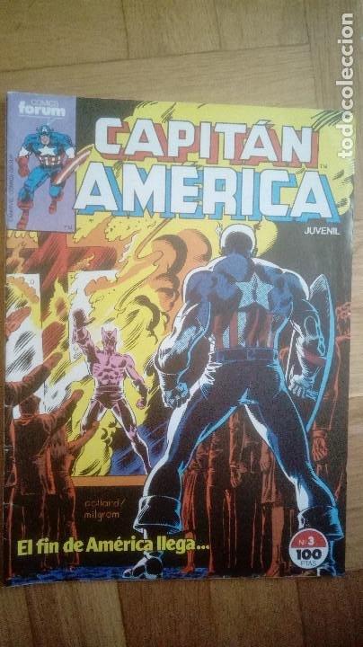 CAPITAN AMERICA. Nº 3. EL FIN DE AMERICA LLEGA. FORUM. 1985 (Tebeos y Comics - Forum - Capitán América)