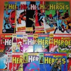 Cómics: MARVEL HEROES. FORUM. GRAPA. NUMEROS 2,3,4,5,6,9,10,11,12,13,14,15 Y 16.. Lote 210779435