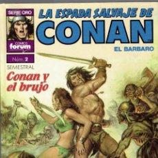 Cómics: LA ESPADA SALVAJE DE CONAN FORUM SERIE ORO SUPER CONAN N,2 - 2 EDICION 1982. Lote 210828164