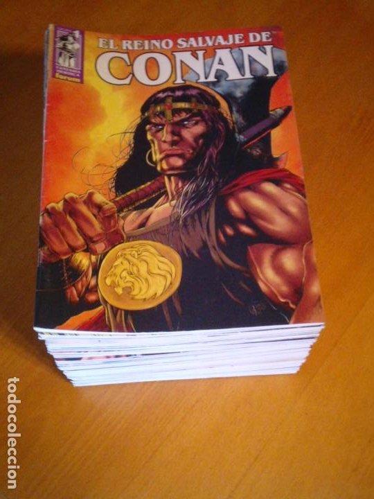 EL REINO SALVAJE DE CONAN - EDITORIAL FORUM - COMPLETA - 40 NUMEROS - NUEVOS - DE KIOSKO - GORBAUD (Tebeos y Comics - Forum - Conan)