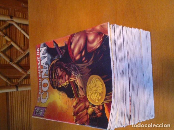 Cómics: EL REINO SALVAJE DE CONAN - EDITORIAL FORUM - COMPLETA - 40 NUMEROS - NUEVOS - DE KIOSKO - GORBAUD - Foto 3 - 211458014