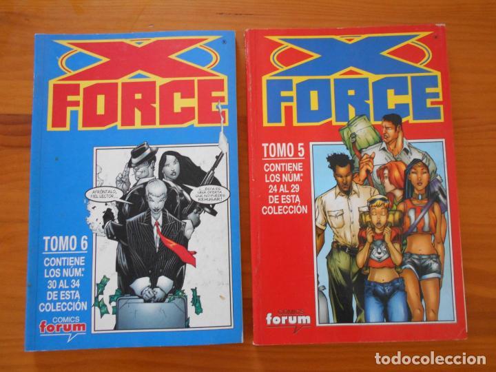 Cómics: X FORCE COMPLETA - 49 NUMEROS EN 9 TOMOS RETAPADOS- FORUM (HG) - Foto 5 - 211659539