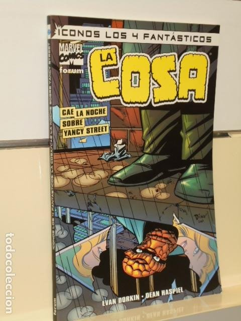 ICONOS LOS 4 FANTASTICOS LA COSA CAE LA NOCHE SOBRE YANCY STREET - FORUM OFERTA (ANTES 9,00€) (Tebeos y Comics - Forum - Otros Forum)