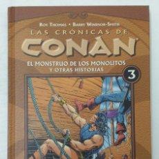 Cómics: LAS CRÓNICAS DE CONAN. TOMO 3. FORUM. TAPA DURA. PERFECTO ESTADO. P.V.P. 15€. Lote 211920777
