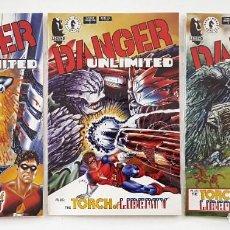 Cómics: DANGER UNLIMITED - Nº 1 - 2 - 4 - JOHN BYRNE - INGLES - DARK HORSE COMICS - PERFECTOS. Lote 212023427
