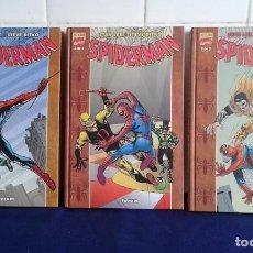 Cómics: EXCELSIOR MARVEL COMICS, COLECCIÓN COMPLETA 3 TOMOS TAPA DURA SPIDERMAN, FORÚM, IMPECABLE. Lote 212121445