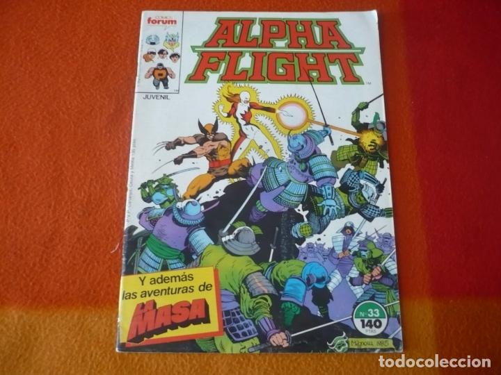 ALPHA FLIGHT VOL. 1 Nº 33 ( MANTLO BUSCEMA ) ¡BUEN ESTADO! FORUM MARVEL LA MASA HULK (Tebeos y Comics - Forum - Alpha Flight)