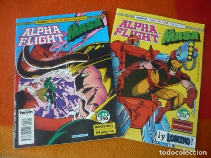 ALPHA FLIGHT VOL. 1 NºS 44 Y 46 ( MANTLO ) ¡BUEN ESTADO! FORUM MARVEL TWO IN ONE LA MASA HULK (Tebeos y Comics - Forum - Alpha Flight)