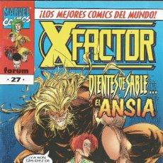 Cómics: MARVEL COMICS FORUM. Nº 27 VOL. II. XFACTOR DIENTES DE SABLE... EL ANSIA. ED. PLANETA BARCELONA 1998. Lote 212880748