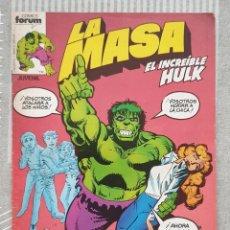 Cómics: LA MASA Nº 8. COMICS FORUM 1983. Lote 212886868