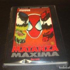 Cómics: SPIDERMAN MATANZA MAXIMA OBRAS MAESTRAS. Lote 212948278