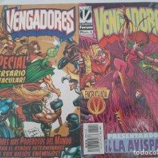Cómics: LOTE DE 2 COMICS MARVEL LOS VENGADORES. Lote 213006928