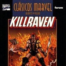 Cómics: KILLRAVEN COMPLETA LA GUERRA DE LOS MUNDOS CLASICOS MARVEL. Lote 213283677