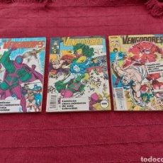 Comics : LOS VENGADORES LOTE DE 3 RETAPADOS COMICS FORUM MARVEL BUEN ESTADO. Lote 213315561