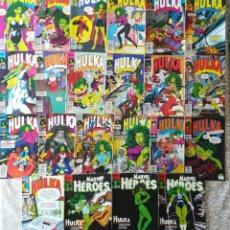 Cómics: HULKA 1 AL11,13,14,15,17,18,21,23,27 MAS MARVEL HEROES 36,37,38 DE HULKA. Lote 213538220