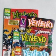 Cómics: VENENO GUERRA DE SIMBIONTES COMPLETA 4 NUMEROS ESTADO MUY BUENO COMICS FORUM. Lote 213828741