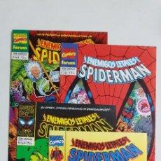 Cómics: LOS ENEMIGOS LETALES DE SPIDERMAN COMPLETA 4 NUMEROS ESTADO MUY BUENO COMICS FORUM MAS ARTICULOS. Lote 213829188