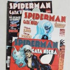 Cómics: SPIDERMAN Y LA GATA NEGRA COMPLETA 3 NUMEROS ESTADO MUY BUENO COMICS FORUM MAS ARTICULOS. Lote 213829467
