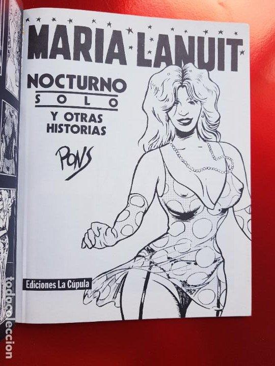 Cómics: COMIC-MARIA LANUIT-NOCTURNO-PONS-1990-VER FOTOS - Foto 4 - 213850987