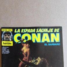 Cómics: LA ESPADA SALVAJE DE CONAN N° 112. Lote 213858241