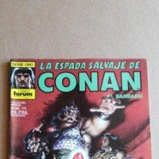 Cómics: LA ESPADA SALVAJE DE CONAN N° 111. Lote 213858293