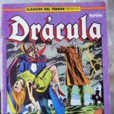 Cómics: DRÁCULA - CLÁSICOS DEL TERROR Nº 15 BIMESTRAL 64 PÁGINAS - FORUM. Lote 214035235