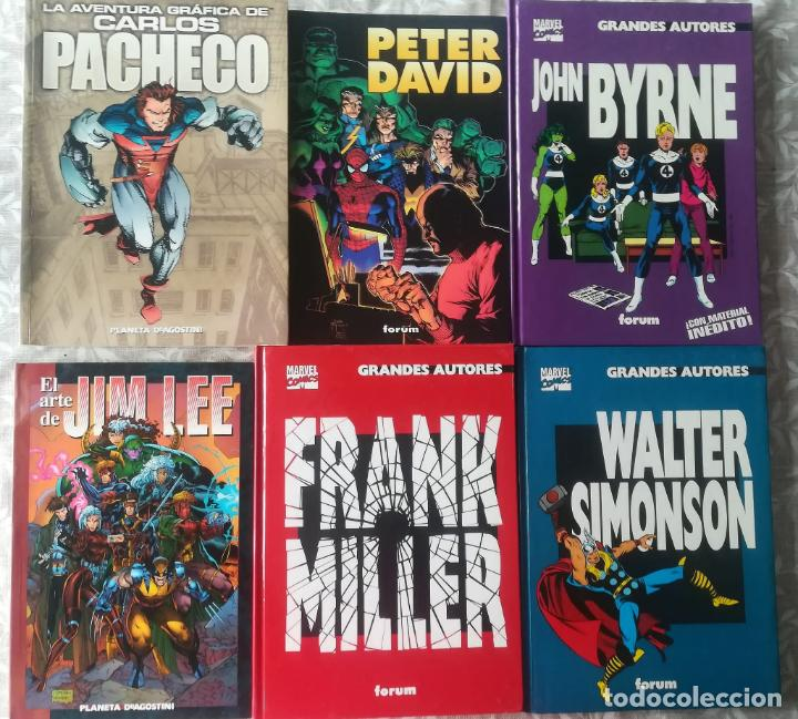 GRANDES AUTORES CARLOS PACHECO, PETER DAVID, JOHN BYRNE, JIM LEE, FRANK MILLER, WALTER SIMONSON (Tebeos y Comics - Forum - Prestiges y Tomos)