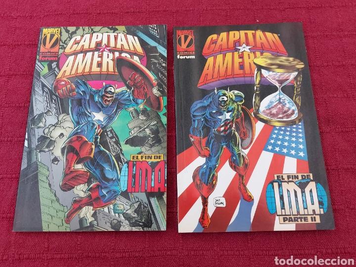 CAPITÁN AMÉRICA EL FIN DE IMA 1 Y 2 COMPLETA- BUEN ESTADO -COMICS FORUM MARVEL (Tebeos y Comics - Forum - Capitán América)