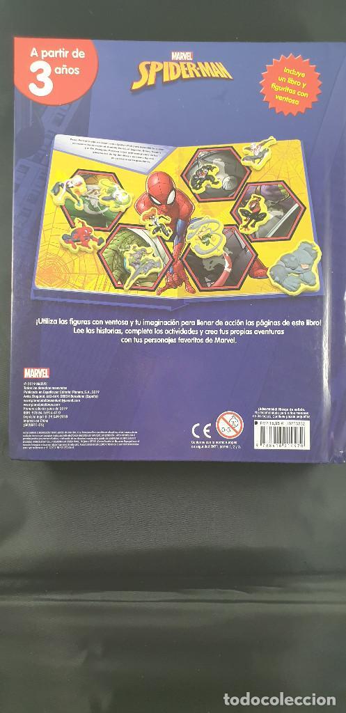 Cómics: LIBRO-SPIDERMAN-MARVEL-MANTEL CON FIGURAS-CUENTOS-VER FOTOS - Foto 2 - 215083848