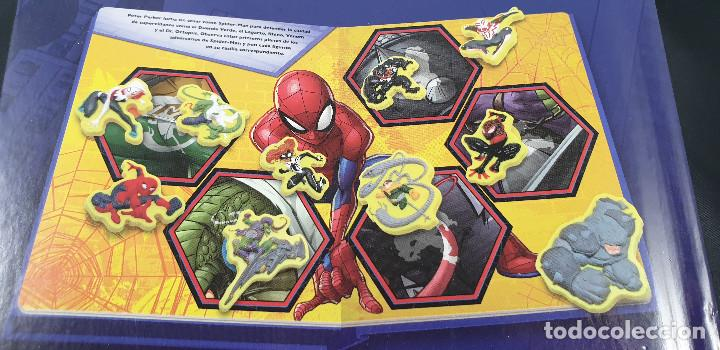 Cómics: LIBRO-SPIDERMAN-MARVEL-MANTEL CON FIGURAS-CUENTOS-VER FOTOS - Foto 8 - 215083848