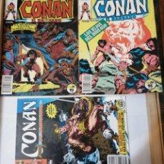 Cómics: 3 CÓMICS DE CONAN EL BÁRBARO.. Lote 215193126