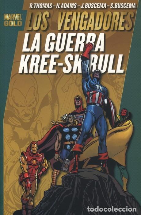 MARVEL GOLD LOS VENGADORES: LA GUERRA KREE-SKRULL VERSION ANTIGUA TAPA VERDE (1ª EDICION) (Tebeos y Comics - Forum - Vengadores)