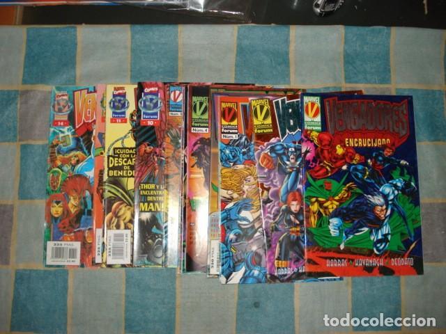 VENGADORES, 1996,VOLUMEN 2 COMPLETO, 14 NÚMEROS + 2 EXTRAS, FORUM, MUY BUEN ESTADO (Tebeos y Comics - Forum - Vengadores)