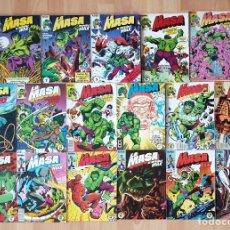 Cómics: LA MASA. EL INCREIBLE HULK COMPLETA 49 COMICS. VARIOS TOMOS RETAPADOS FORUM 1983. Lote 216433392